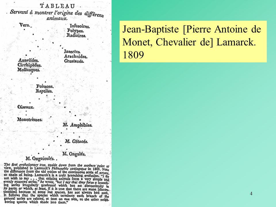 Jean-Baptiste [Pierre Antoine de Monet, Chevalier de] Lamarck. 1809